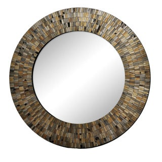 Renwil Aventurine Black Mosaic Mirror
