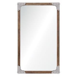 Ren Wil Renwil Advocate Satin Nickel Mirror