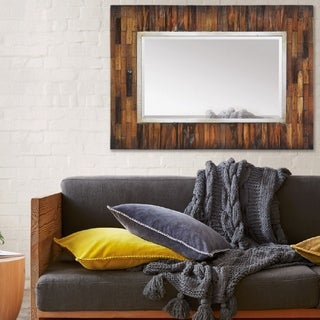 Ren Wil Renwil Pretoria Natural Wood Mirror