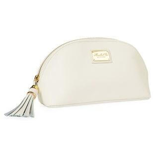 Morelle & Co Miriam Saffiano Cream Leather Cosmetic Bag