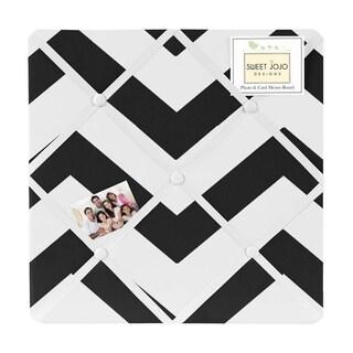 Sweet Jojo Designs Black and White Chevron Fabric Photo Bulletin Board