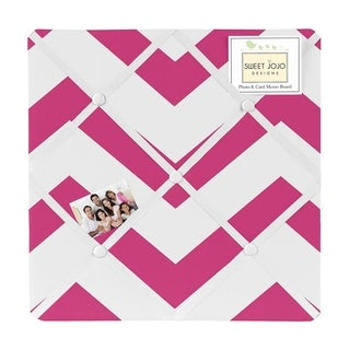 Sweet Jojo Designs Pink Chevron Fabric Photo Bulletin Board