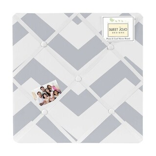 Sweet Jojo Designs Grey Chevron Fabric Photo Bulletin Board