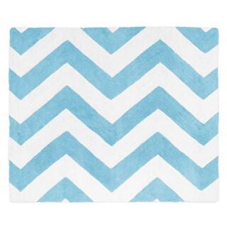 Sweet Jojo Designs Turquoise/ White Chevron Floor Rug