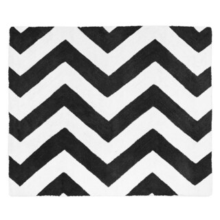 Sweet Jojo Designs Black/ White Chevron Floor Rug