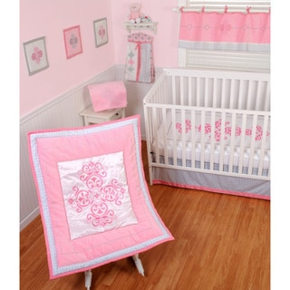 Sumersault Little Princess 4-piece Crib Bedding Set