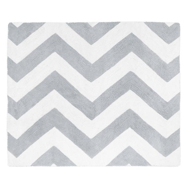 Sweet Jojo Designs Grey/ White Chevron Floor Rug - 2'6 x 3'