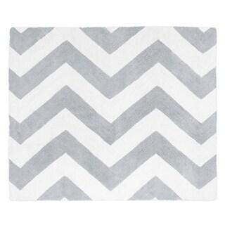 Sweet Jojo Designs Grey/ White Chevron Floor Rug