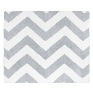 Sweet Jojo Designs Grey/ White Chevron Floor Rug - 2'6 x 3'