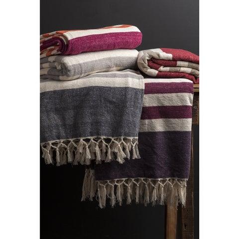 The Gray Barn Tule Cotton Striped Throw Blanket