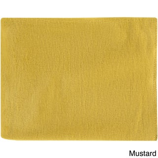 Florence Mulberry Silk 50x67-inch Throw (Option: Mustard)