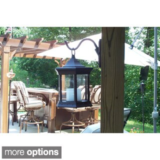 Solar Lantern Aluminum Outdoor Sconce (2 options available)
