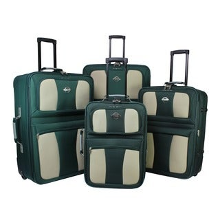 Coronado 4-piece Expandable Rolling Upright Luggage Set