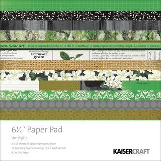 Limelight Paper Pad 6.5 X6.5  40/Sheets - 12 Designs/2 Ea, 6 Specl/2 Ea 4 Die-Cut