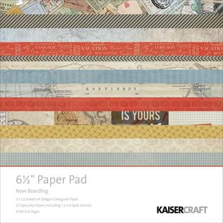 Now Boarding Paper Pad 6.5 X6.5  40/Sheets - 12 DESIGNS/2 EA, 6 SPECL/2 EA, 4 DIE-CUT