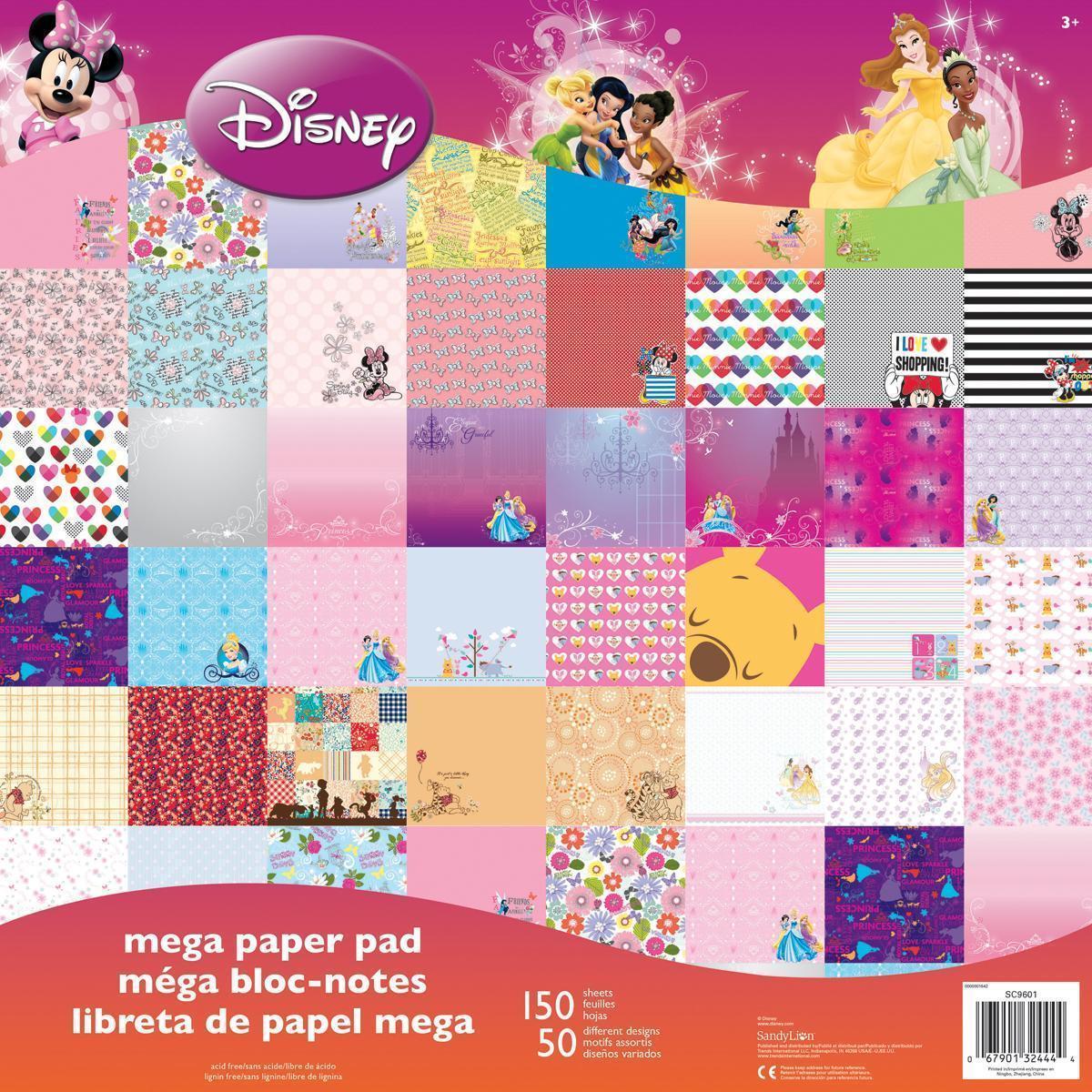 Disney Mega Paper Pad 12 X12 150/Sheets - Girl, 50 Design...