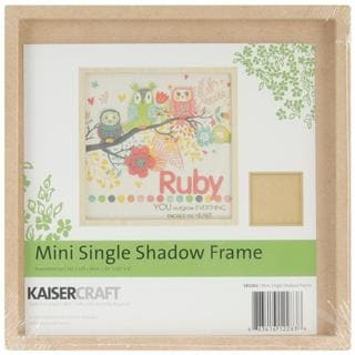Beyond The Page MDF Mini Single Shadow Frame - 6.5 X6.5 X.5