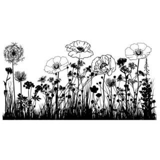 IndigoBlu Cling Mounted Stamp 7 X4.75  - Wild Flowers