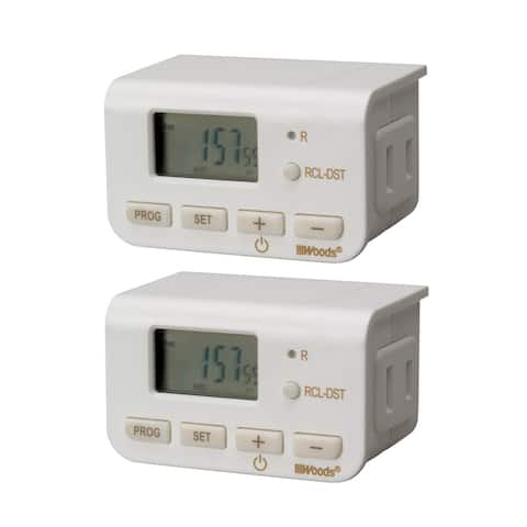 Woods Wire Indoor 24-hour Digital Timer (Pack of 2)
