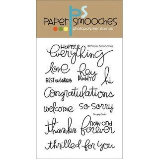 Paper Smooches 4 X6  Clear Stamps - Simply Said