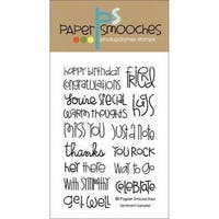 Paper Smooches 4 X6  Clear Stamps - Sentiment Sampler