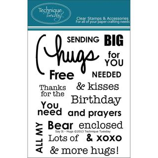 Technique Tuesday Clear Stamps 3 X4 - Say It - Hugs
