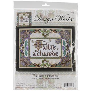 Welcome Friends Counted Cross Stitch Kit - 10 X13 14 Count
