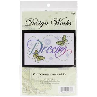Dream Counted Cross Stitch Kit - 5 X7 14 Count