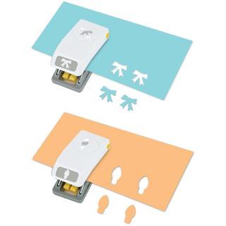 Mini Punches 2/Pkg - Bulb & Bow, .6