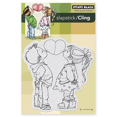 Penny Black Cling Rubber Stamp 4 X6 Sheet   Bubble Heart