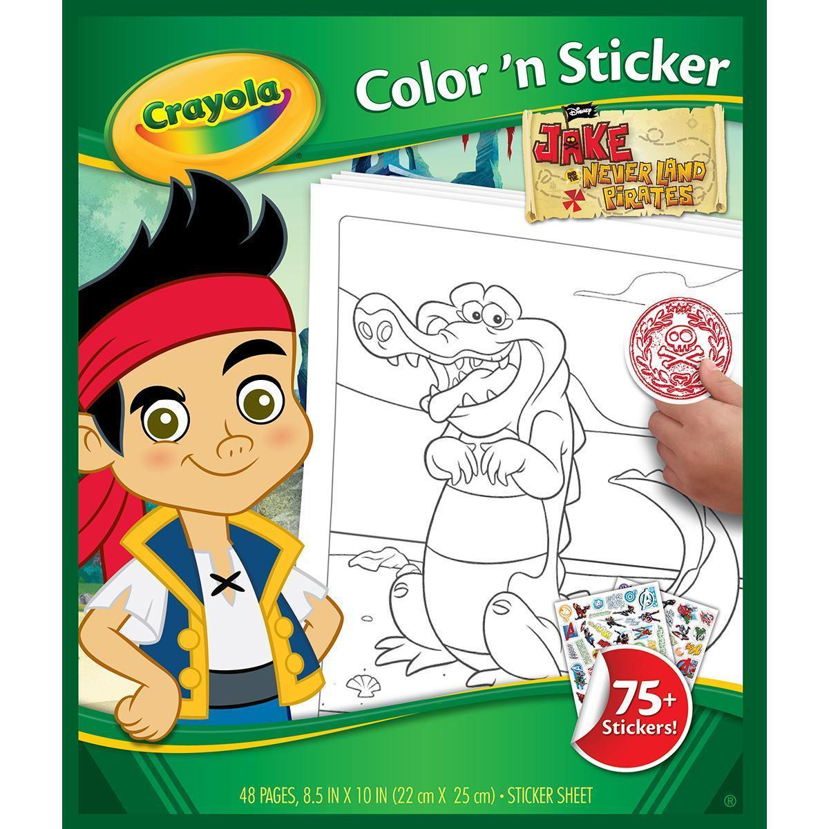 Crayola Color 'N Sticker Book - Jake And The Never Land P...