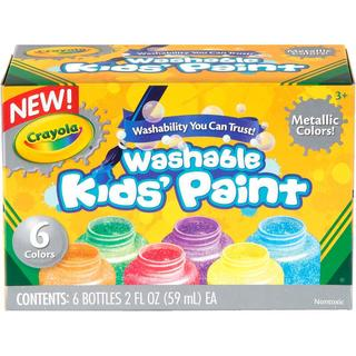 Crayola Washable Metallic Paint 2oz 6/Pkg -