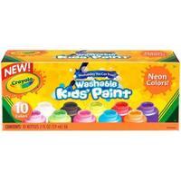 Crayola Washable Neon Paint 2oz 10/Pkg -