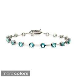 Icz Stonez Sterling Silver Colored CZ Bracelet