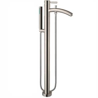 Wyndham Collection Taron 37-inch Brushed Nickel Tub Filler