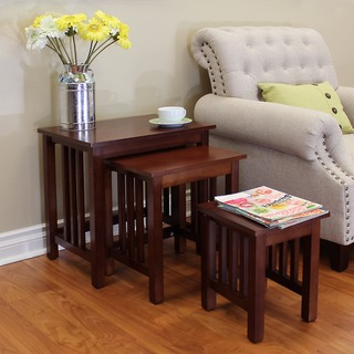 Hollydale Nesting Chestnut Tables (Set of 3)