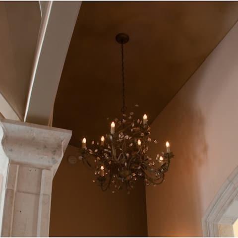 Maxim Elegante Crystal 9-light Bronze Chandelier