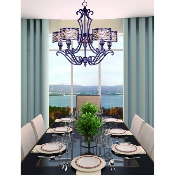 Maxim Mondrian 5-light Umber Bronze Chandelier