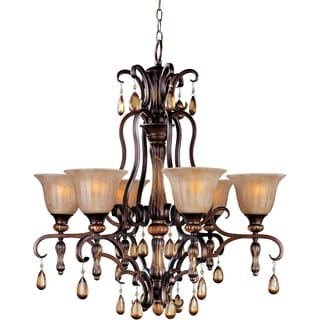 Maxim Dresden 6-light Filbert Bronze Chandelier