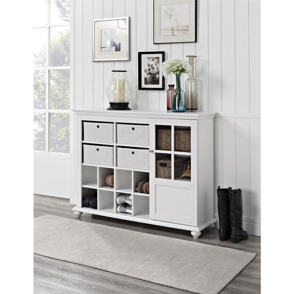 Shop Ameriwood Home Reese Park 4 Bin Storage Cabinet Free Shipping