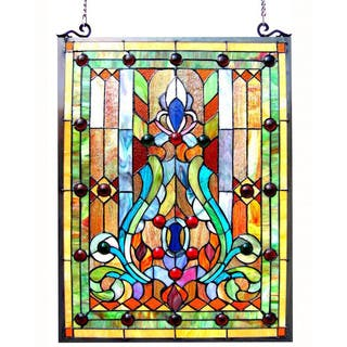 Chloe Tiffany-style Victorian Design Window Panel|https://ak1.ostkcdn.com/images/products/8873466/Victorian-Design-Stained-Glass-Window-Panel-P16098362.jpg?impolicy=medium