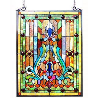 glass window panels aluminium chloe tiffanystyle victorian design window panel buy stained glass panels online at overstockcom our best