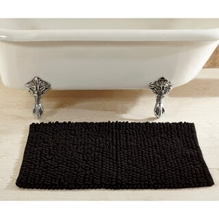 Hand-woven Chenille Rocks Cotton 24 x 36 Bath Rug by Better Trends (5 options available)