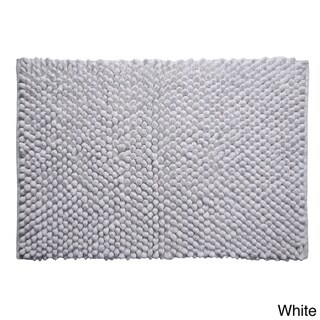 Hand-woven Chenille Rocks Cotton 24 x 36 Bath Rug by Better Trends