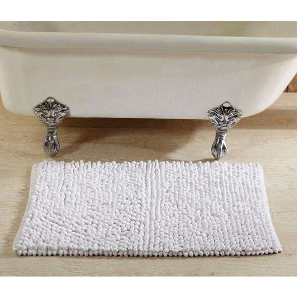Shop Hand Woven Chenille Rocks Cotton 24 X 36 Bath Rug By