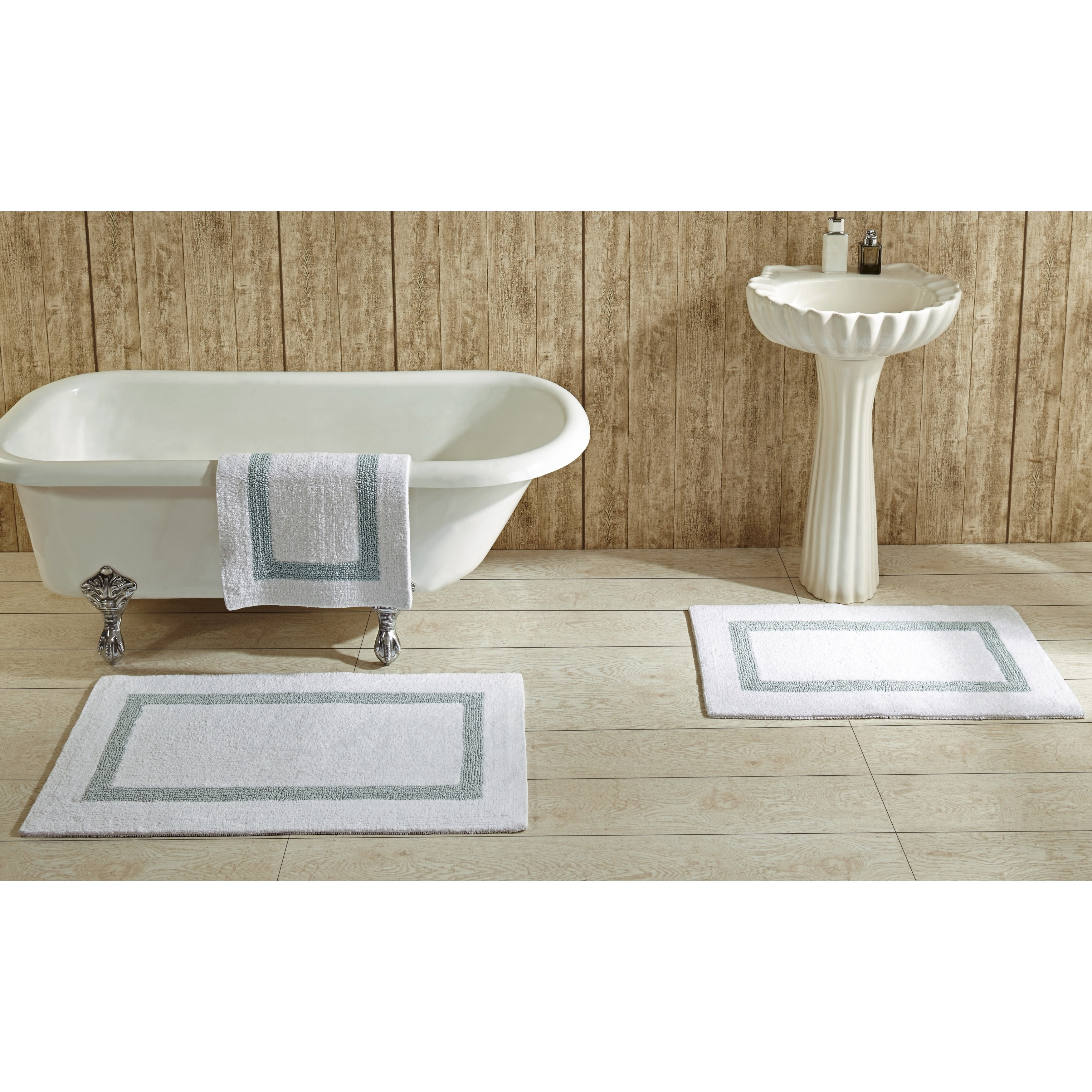 Hotel Collection Cotton Reversible Luxury Bath Rug by Bet...