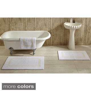 Hotel Collection Cotton Reversible Luxury Bath Rug by Better Trends. Hotel Collection Cotton Reversible Luxury Bath Rug by Better