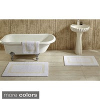 Hotel Collection Cotton Reversible Luxury Bath Rug By Better Trends