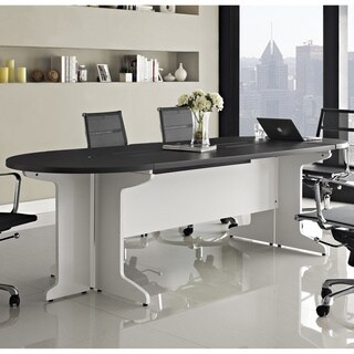 Altra Pursuit White/ Grey Large Conference Table