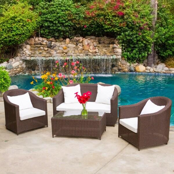 Good Patio Furniture Sale San Antonio Christopher Home St Brown Loveseat Set Free